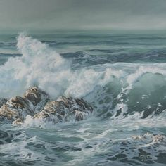 Surf Rising Paper Giclee Print Seascape Ocean by carolthompsonart, $28.00