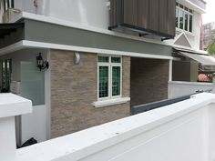 Stone like-strata panel to transform the exterior walls of a neighbourhood