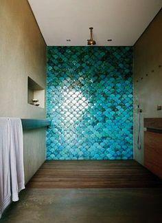 Open Shower, Ideas, Interiors, Tile Shower, Bathroom Wall, House ...