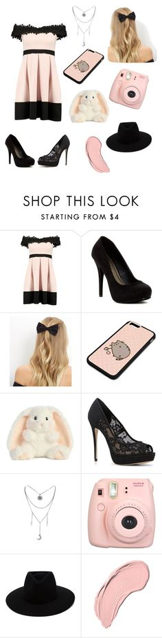 """Pink and black times"" by katie-someo ❤ liked on Polyvore featuring Boohoo, Michael Antonio, New Look, Pusheen, ALDO, Fujifilm, rag & bone and NYX"