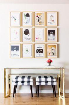Home Tour: A Textile Designer's Preppy, Feminine Space via @mydomaine   gallery wall   art   art wall   interior design   urban home   home decor   The Loft Brokers