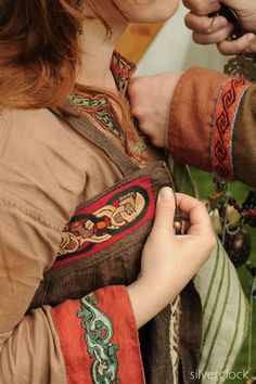 Gorgeous color and trim detail- Viking garb