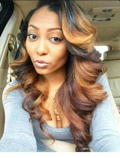 Online Shop Ombre hair color sew in human hair bundles and closure and frontal for brunettes colored hair for black off promotion factory cheap price,DHL worldwide shipping, store coupon available. Weave Hairstyles, Straight Hairstyles, Pretty Hairstyles, Curly Haircuts, Black Hairstyles, Love Hair, Gorgeous Hair, Curly Hair Styles, Natural Hair Styles