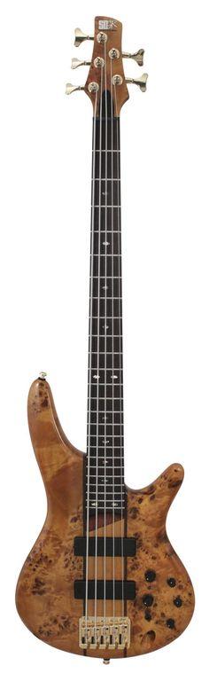 Ibanez SR805 AM Standard Poplar Burl Electric Bass