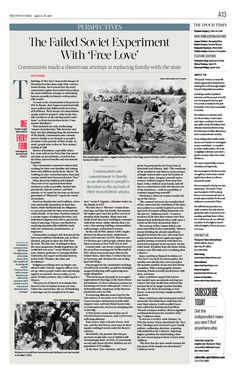 The Failed Soviet Experiment With 'Free Love'|The Epoch Times #Perspectives #newspaper #editorialdesign