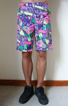 MULTICOLOR SHORTS pince of belair tribalprint by adultworldshop
