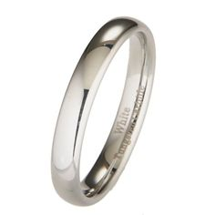 4MM White Tungsten Carbide Polished Classic Wedding Ring ** You can get more details by clicking on the image. (This is an affiliate link) #MenWeddingRings