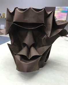 Mask by Gachepapier folded in CDO #origami #convention