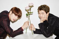 Jungkook and Rap Monster ❤ BTS for GQ Korea Magazine December Issue 'Men of the Year' Bts Jungkook, Kim Taehyung, Seokjin, Namjoon, Billboard Music Awards, Yoonmin, K Pop, Magazine Gq, Fanfiction