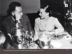 Albert Camus (1913-1960). En 1944, il rencontre et tombe amoureux de Maria Casares.