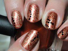 Canadian Nail Fanatic: Fall Nails #fall #nails #fallnails #diy #prettynails #holidaynails #leavesnails