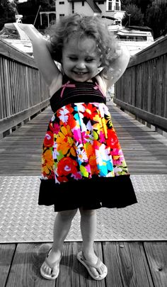 Sweet Ava.- love the color with the black and white
