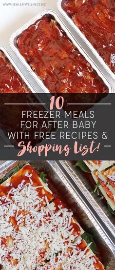 10 Freezer Meals for After Baby With Free Recipes and Shopping List! http://www.giftideascorner.com/christmas-gifts-mom