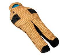 Sleeping bag with zip-apart legs.  The idea of walking around in a sleeping bag makes me so happy.