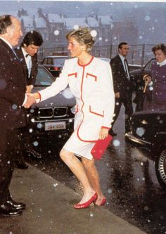 Princess Diana Rare, Princess Diana Fashion, Princess Of Wales, Lady Diana Spencer, Charles Spencer, British Royals, Lady In Red, Love Her, Peplum Dress