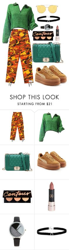 """get the look 29"" by ichaermayani on Polyvore featuring Jean-Paul Gaultier, Puma, Anastasia Beverly Hills, BKE, BillyTheTree and polyvorefashion"