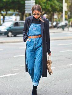 Um macacão jeans mega estiloso