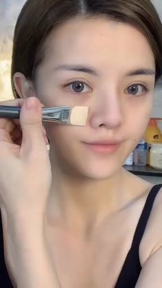 Korea Makeup Tutorial, Ulzzang Makeup Tutorial, Makeup Looks Tutorial, Makeup Tutorial Videos, Makeup Korean Style, Korean Natural Makeup, Korean Makeup Tips, Asian Makeup Videos, Makeup Style