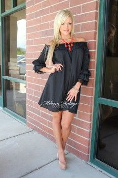 Southern Glamour Belle Sleeve Lace Dress Black