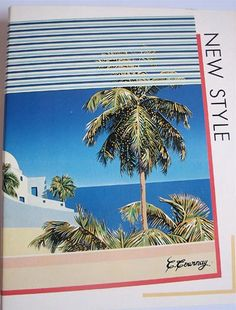 Vintage 1980s New Style A4 binder. Illustration by C. Tournay. Marked on the back : Modling Creations Paperteries Hamelin, made in France.