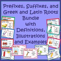 If you need common core activities for Greek and Latin Roots, this might be just right for your kiddos! This is actually five of my products bundled together to give you sixteen activities in one pack. Fourth and Fifth Grade #CCSS #ELA $