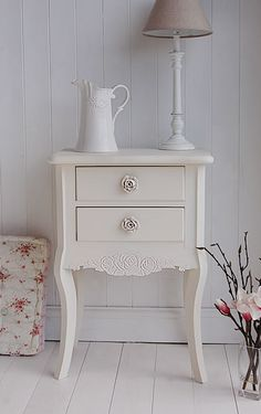 Peony Cream Bedroom Furniture  Cream Bedside  - The white lighthouse