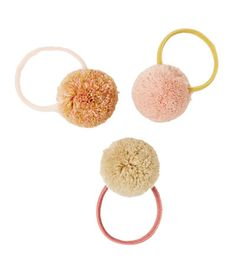 3-PACK OF POMPOM HAIR TIES-NEW IN-GIRL   5 - 14 years-KIDS   ZARA United States