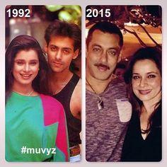 #SalmanKhan #Neelam #BollywoodFlashback #90s #couplegoals #nowandthen #muvyz031018 #SalmanMuVyz #NeelamMuVyz @BeingSalmanKhan…