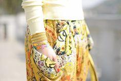 Shades of yellow arm party! #lauracomolli #pursesandi #fashion #fashionblogger #style #bracelets #yellow #salylimon #cruciani #armparty #armcandy #armswang #wrist #ss2013 #spring #cute #beautiful www.pursesandi.net