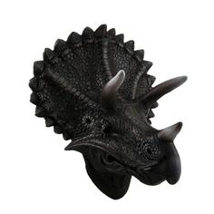 Triceratops Trophy Wall Mounted Dinosaur Head Sculpture, Brown (ABS)