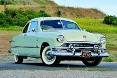 1951 Ford, Light Green, Club 2Dr Coupe.