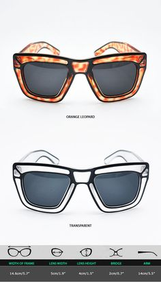 Mens Funky Edge Drawing Transparent Sunglasses By Guylook.com