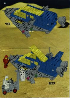 LEGO 487 Space Cruiser instructions displayed page by page to help you build this amazing LEGO Space set Classic Lego, Classic Toys, Lego Projects, Projects To Try, Legos, Lego Space Sets, Vintage Lego, Lego Worlds, Lego Instructions