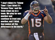 Vintage Tebow right here. Man this dude is awesome.