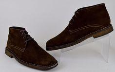 Johnston & Murphy Runnell Men's Size 11 M Brown Sheepskin Crepe Sole Chukka Boot #JohnstonMurphy #AnkleBoots