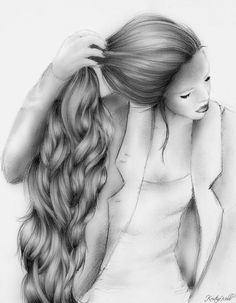 Rebecca, drawing by Kristina Webb