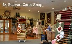 In Stitches Quilt Shop, Indiana - what a homey vibe this gives off.