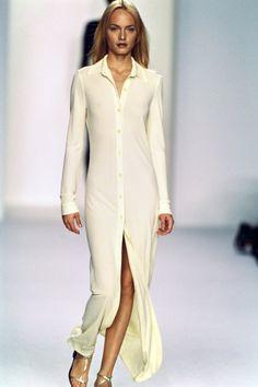Calvin Klein Collection Spring 1996 Ready-to-Wear Fashion Show - Amber Valletta