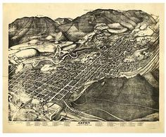 Bird's eye view of Aspen, Pitkin County, Colorado: 1893 - REPRODUCTIONS