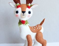 PDF pattern Reindeer pixie Felt softie Christmas von iManuFatti