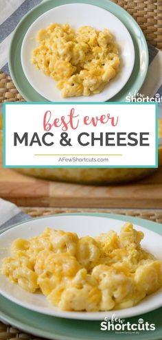 It doesn't get much better than this Pioneer Woman's Mac & Cheese Recipe!! This is the best ever Mac & Cheese! You have to try it at least once! #recipes #sidedish  via @afewshortcuts