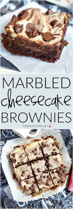 marbled cheesecake brownies | The Baking Fairy
