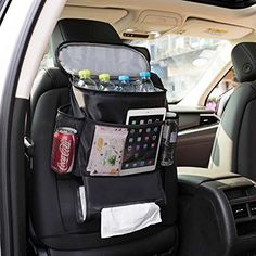 Kick Mat Multipurpose Use as Auto Seat Car Protector Ecom Start 2Pcs Car Back Seat Organiser With 10 Touch Screen Tablet Holder For Kids Car Organiser