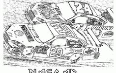 free nascar coloring pages the sports 1 - Nascar Coloring Pages