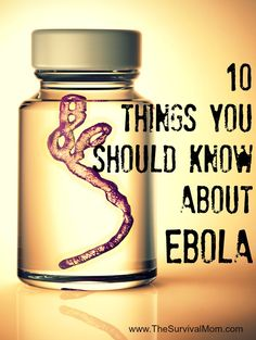 10 Things you should know about Ebola | via www.TheSurvivalMom.com