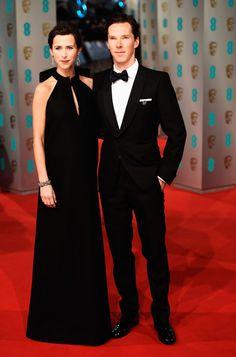 La alfombra roja de los Premios BAFTA 2015 SOPHIE HUNTER Y BENEDICT CUMBERBATCH