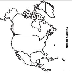 Blank North America Map Countries Blank North America Map