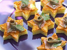Etoiles de polenta à la poivronnade, facile et pas cher
