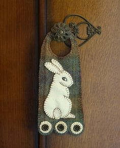 Felted Wool Penny Door Hanger by AshtonPublications on Etsy