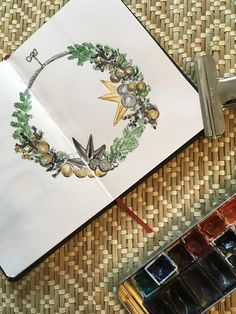 Sarah J. Loecker : 10 more sketches from my christmas sketchbook Days Before Christmas, First Christmas, Christmas Sketch, Advent Season, Watercolor Christmas, Small Candles, Bottle Brush Trees, Kings Day, How To Make Ornaments